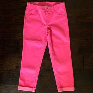 NWOT JUSTICE Hot Pink Cuffed Capris (Size 14S)